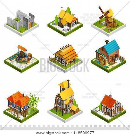 Medieval Buildings Isometric Collection