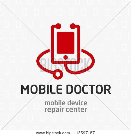 Mobile doctor logo template.