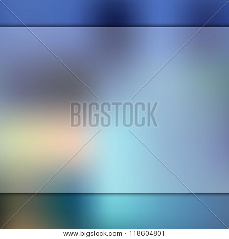 Glass on blurred blue background