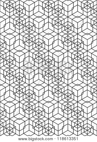 Black And White Abstract Textured Geometric Seamless Pattern. Vector Contrast Textile Backdrop With