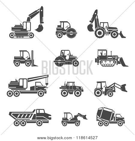 Construction vehicles icons