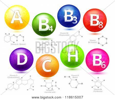 Vitamins chemical structures