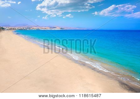 Costa Calma beach of Jandia Fuerteventura at Canary Islands of Spain