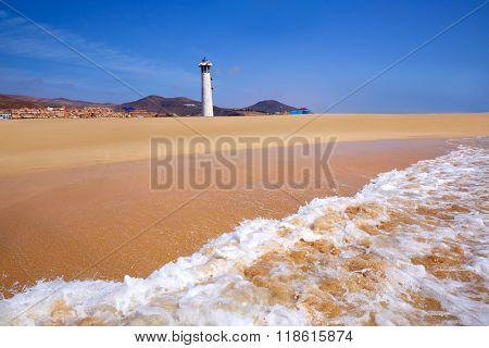 Morro Jable Matorral beach Jandia in Pajara of Fuerteventura at Canary Islands
