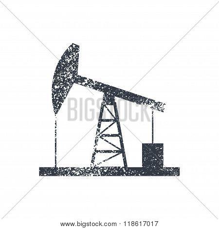 Oil Derrick Icon  Bitmap Illustration.