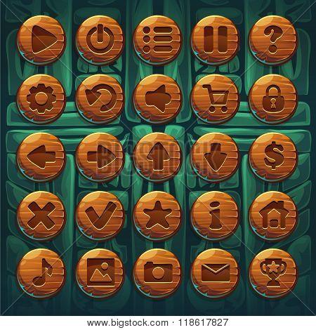 Jungle Shamans Gui Set Buttons