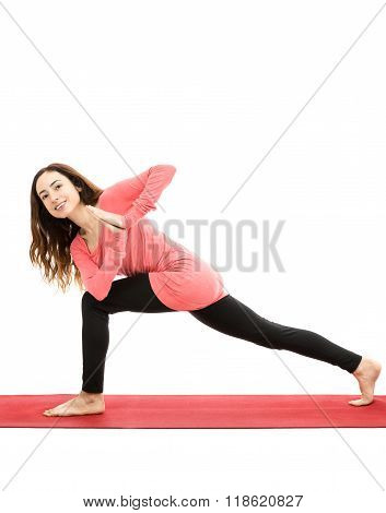 Crescent Pose With A Twist