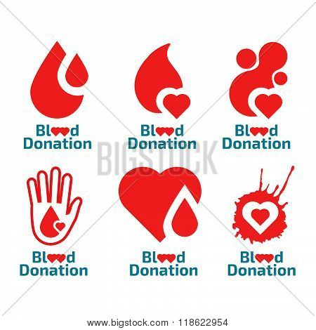 Donate blood logo