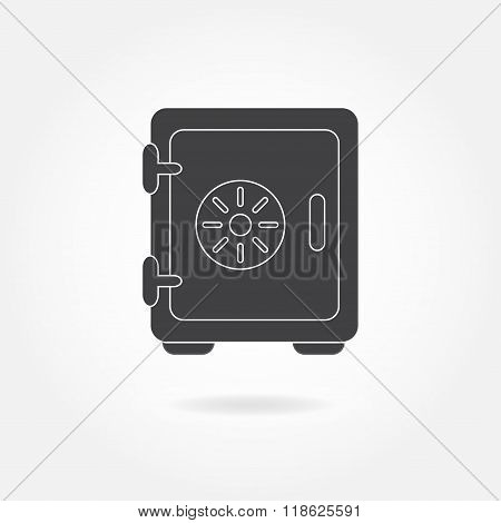 Safe icon isolated on white background. Security concept. Vector illustration.