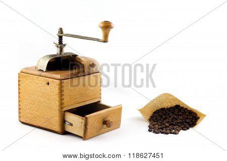 freshly ground coffe