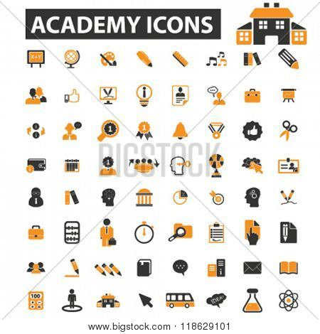 academy icons, academy logo, education icons vector, education flat illustration concept, education infographics isolated on white background, education  logo, education symbols, learning, school