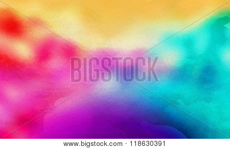 A Rainbow Abstract Watercolor Background