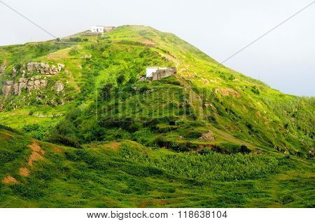 Road Leads To Homes  On The Mountaintop