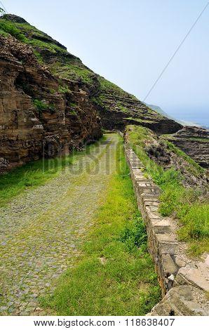 Road On Mountain Ledge