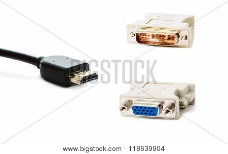 Dvi, Vga  And Hdmi Adapters