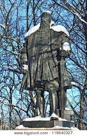 Monument Of Duke Albrecht. Kaliningrad (formerly Koenigsberg), Russia