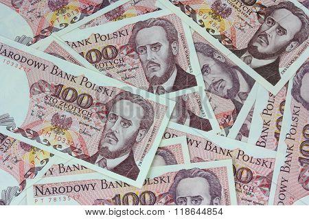 old polish money background
