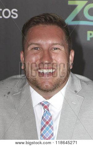 LOS ANGELES - FEB 17:  Nate Torrence at the Zootopia Premiere at the El Capitan Theater on February 17, 2016 in Los Angeles, CA