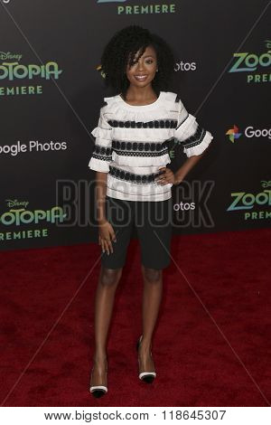 LOS ANGELES - FEB 17:  Skai Jackson at the Zootopia Premiere at the El Capitan Theater on February 17, 2016 in Los Angeles, CA