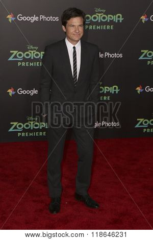 LOS ANGELES - FEB 17:  Jason Bateman at the Zootopia Premiere at the El Capitan Theater on February 17, 2016 in Los Angeles, CA