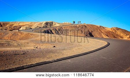 Winding Path Leads To Zabriskie Point In Death Valley