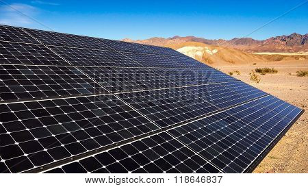 Solar Panels In Mojave Desert