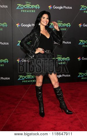 LOS ANGELES - FEB 17:  Joyce Giraud at the Zootopia Premiere at the El Capitan Theater on February 17, 2016 in Los Angeles, CA