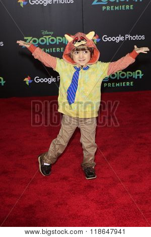 LOS ANGELES - FEB 17:  Jeremy Maguire at the Zootopia Premiere at the El Capitan Theater on February 17, 2016 in Los Angeles, CA