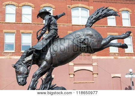 Cowboy Statue In Deadwood