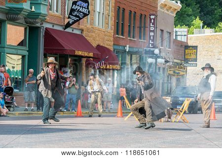 Gunfight Reenactment In Deadwood, South Dakota