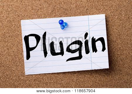 Plugin - Teared Note Paper Pinned On Bulletin Board