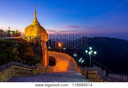 Kyaiktiyo Pagoda (golden Rock), Mon State, Myanmar