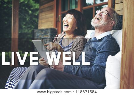 Live Well Wellbeing Healthy Life Concept