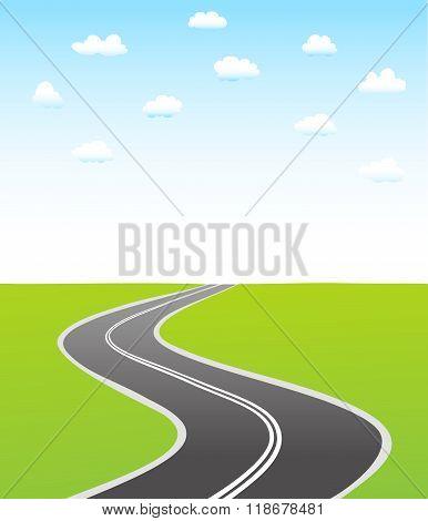 Black Asphalt Road And Sky