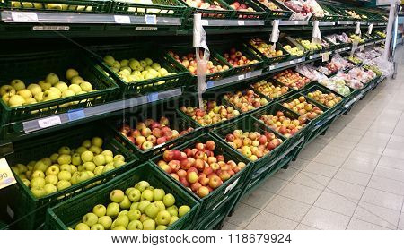 Vegetable Section In Supermarket