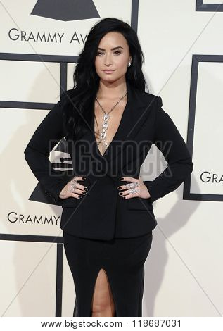 Demi Lovato at the 58th GRAMMY Awards held at the Staples Center in Los Angeles, USA on February 15, 2016.