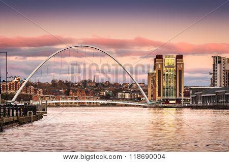 Millennium Bridge At Sunset