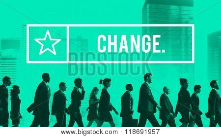 Change Opportunity Revolution Improvement Development Concept poster