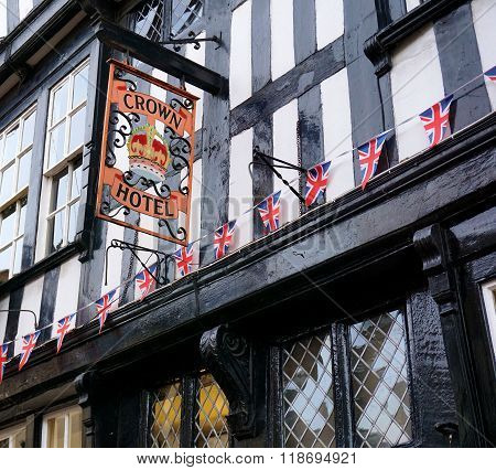 Traditional British Hotel, Nantwich, England