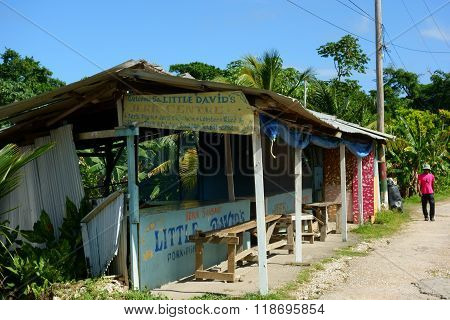 Little David's Jerk Centre in Boston Bay, Portland parish, Jamaica
