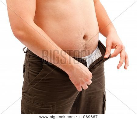 Man Dressing Or Undressing