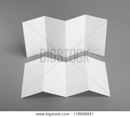 identity design corporate templates company style set of booklets blank white folding paper flyer