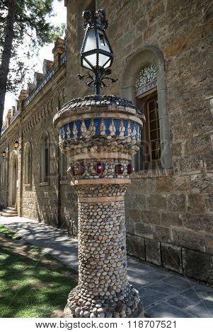 La Pobla de Segur (Catalunya Spain): historic church and garden poster