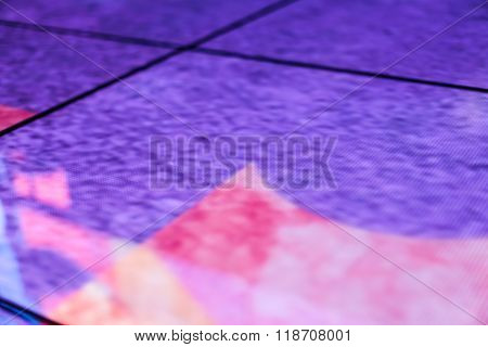 Led Floor Technology And Purple Textured Reflection