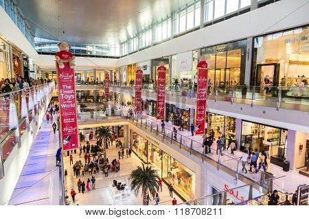 Shoppers In Dubai Mall, Uae