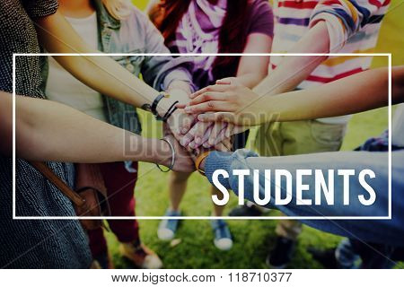 Students Scholar Learning Friends School Concept