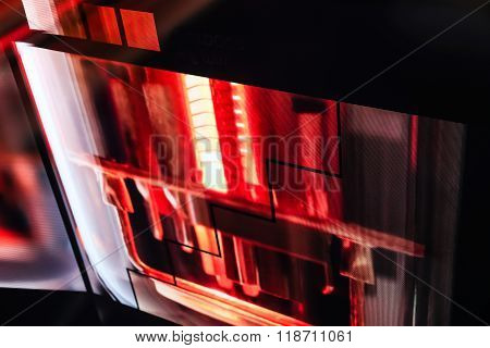 Led Floor Technology Red Electronic Reflection