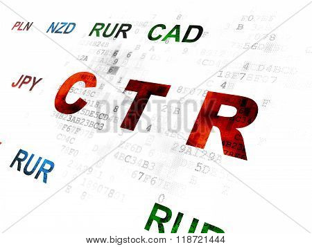 Business concept: CTR on Digital background