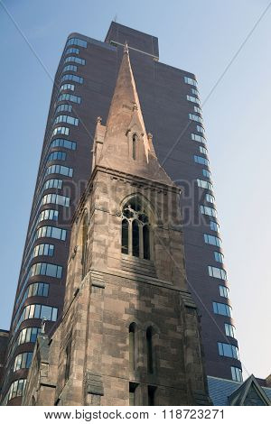 Tower Of Church Of The Incarnation In New York City On 209 Madison Ave