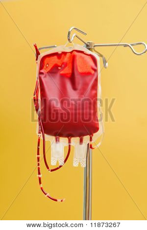 Stored blood in a clinic